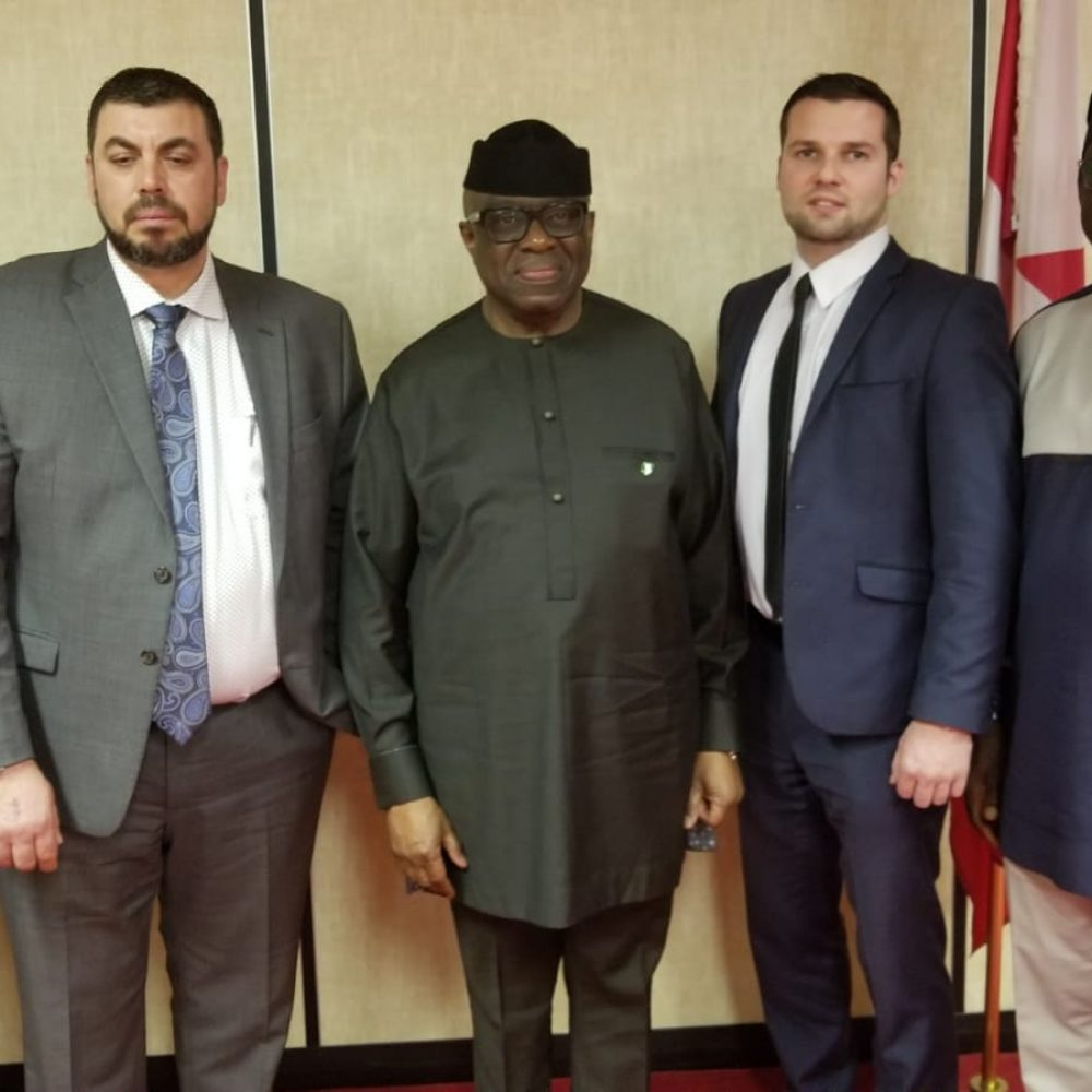 THE HIGH COMMISSIONER OF NIGERIA TO CANADA MEETS M&C COMMODITIES / JOAMA CONSULTING / ECCA-MB