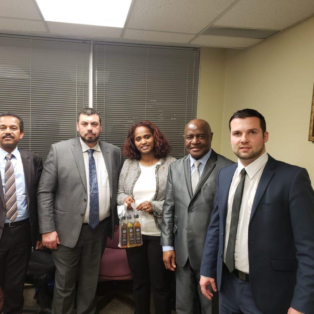 THE AMBASSADOR OF ETHIOPIA TO CANADA MEETS M&C COMMODITIES / JOAMA CONSULTING / ECCA-MB