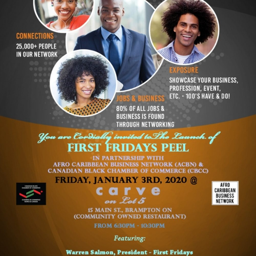 Toronto – 1st Fridays / CBCC-Canadian Black Chamber of Commerce – January 3rd, 2020