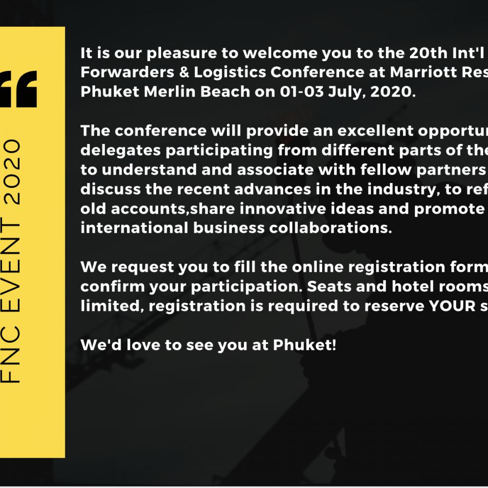 FNC Group 20th Intl Conference 2020 at Phuket