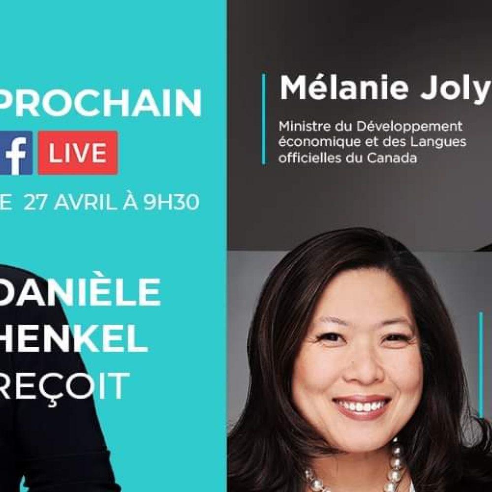 Remerciements et Félicitations à DanieleHenkel.tv – Interview des Ministres Melanie Joly et Mary Ng ce 27 Avril 2020