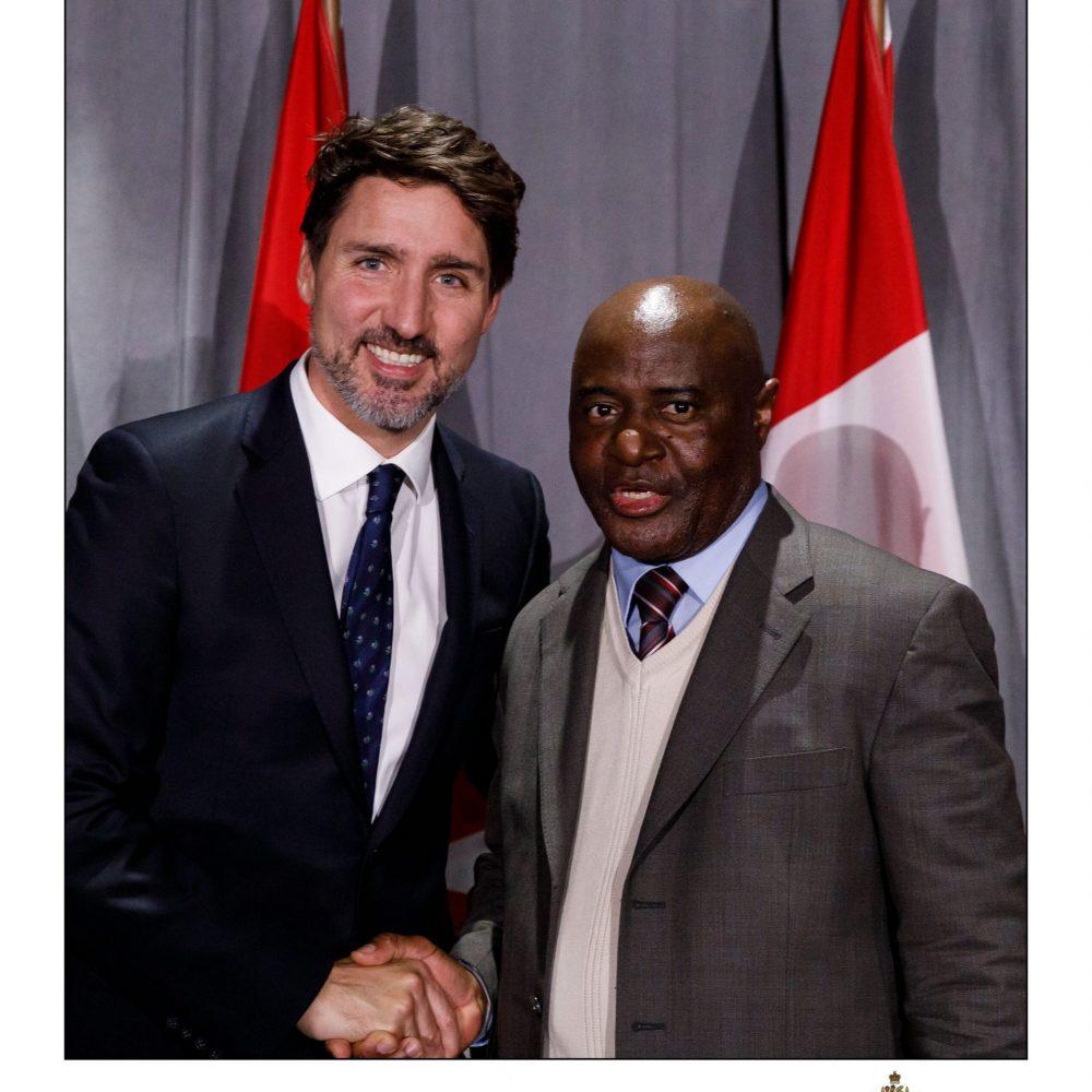 Justin Trudeau (PM-Canada) / Justin Ondo (Joama Consulting / ECCA-MB)