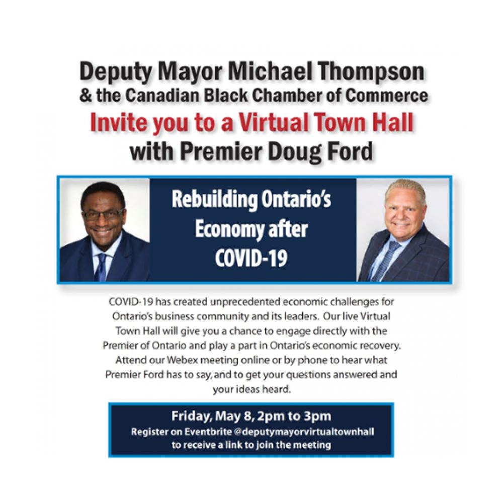TORONTO – PREMIER DOUG FORD WILL BE RECEIVED BY Deputy Mayor Michael Thompson VIRTUAL CONFERENCE.  JOAMA CONSULTING IS HONORED TO TAKE PART