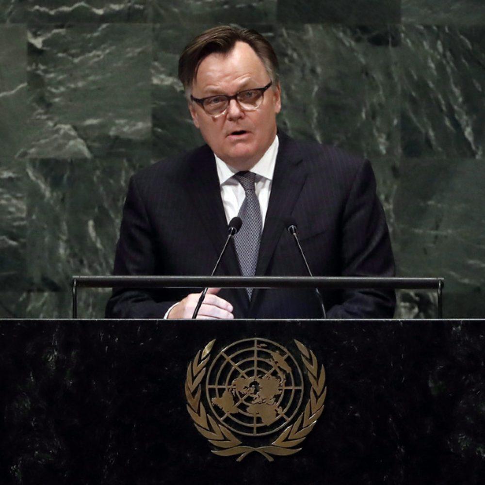 Canada – Candidature au Conseil de sécurité: le Canada réplique aux critiques / L'ambassadeur du Canada aux N.U., Marc-André Blanchard