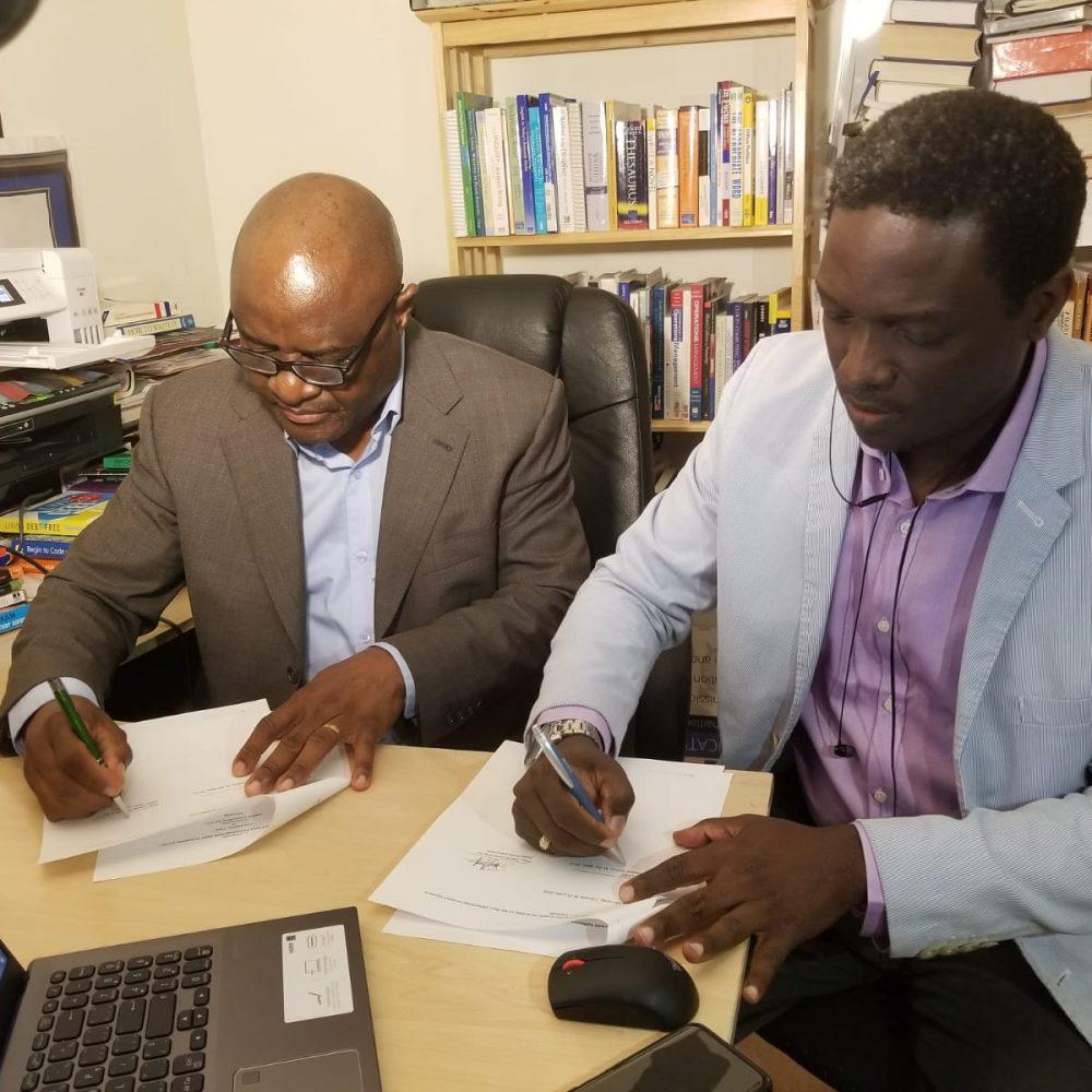 Université Haitienne Sans Frontières (UHSF) et Joama Consulting : signature d'entente au profit de l'Afrique ce 30 Juillet 2020.