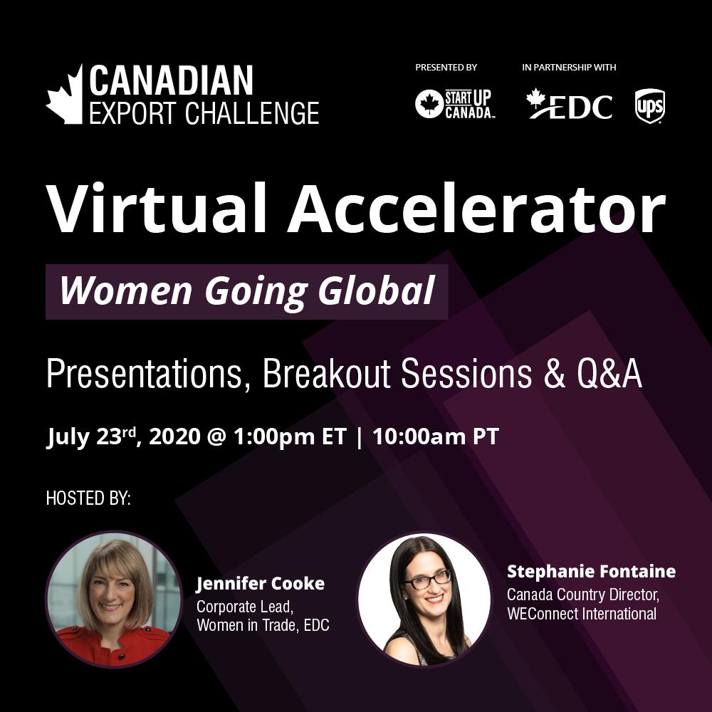 StartUp Canada-The Women Going Global Virtual Accelerator