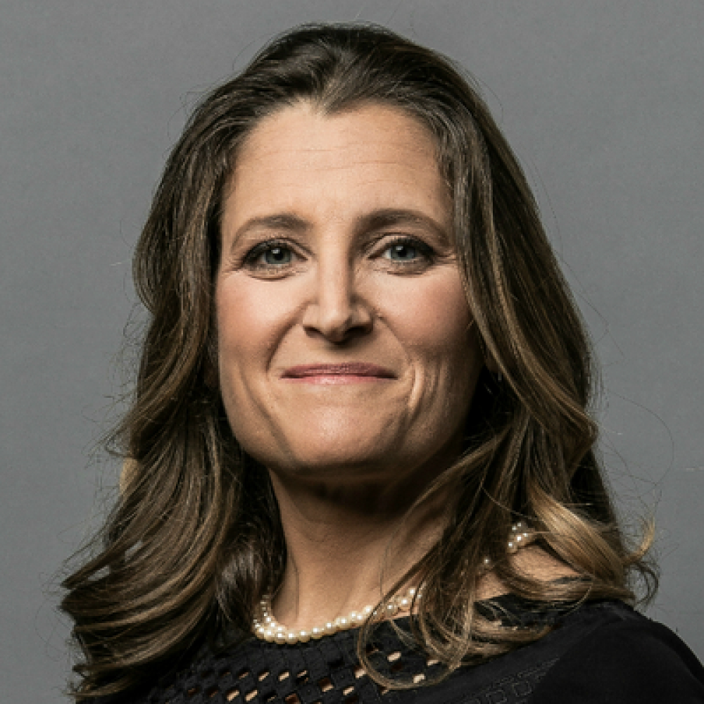 Chrystia Freeland-Deputy Prime Minister of Canada /  becomes first female finance minister