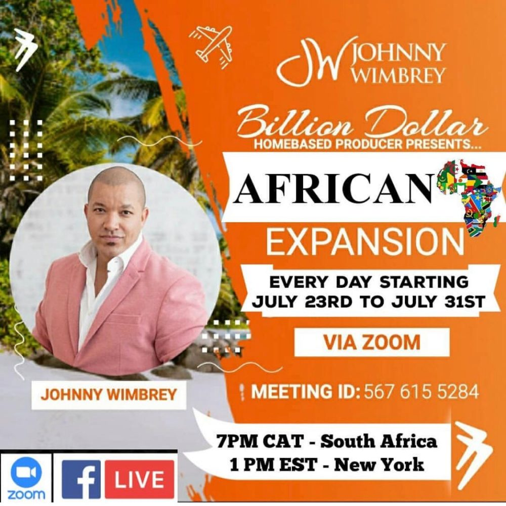 Ibuumerang is spreading with speed V in Africa- Zoom meeting of Johnny Wimbrey for 9 days (Du 23 au 31 Juillet 2020)!