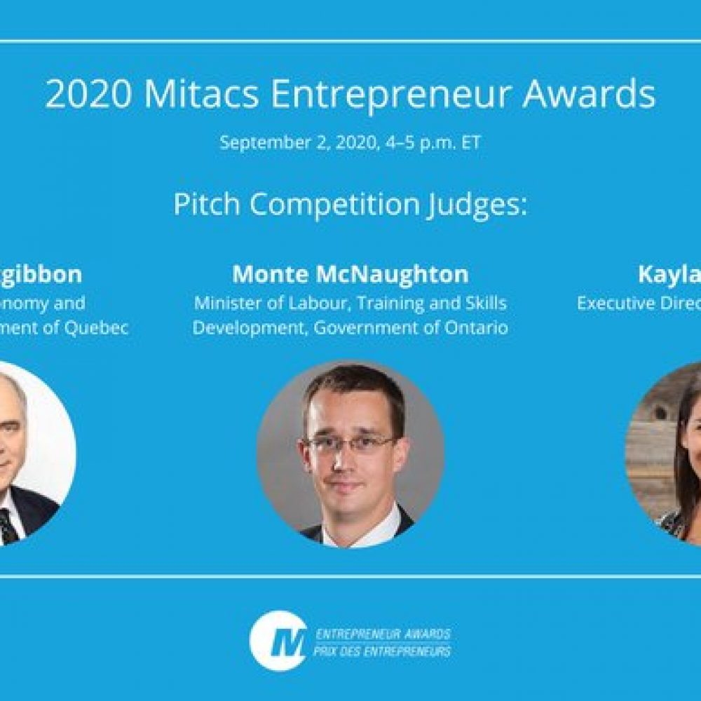 Startup Canada: 2020 Mitacs Entrepreneur Awards- September 2nd, 2020