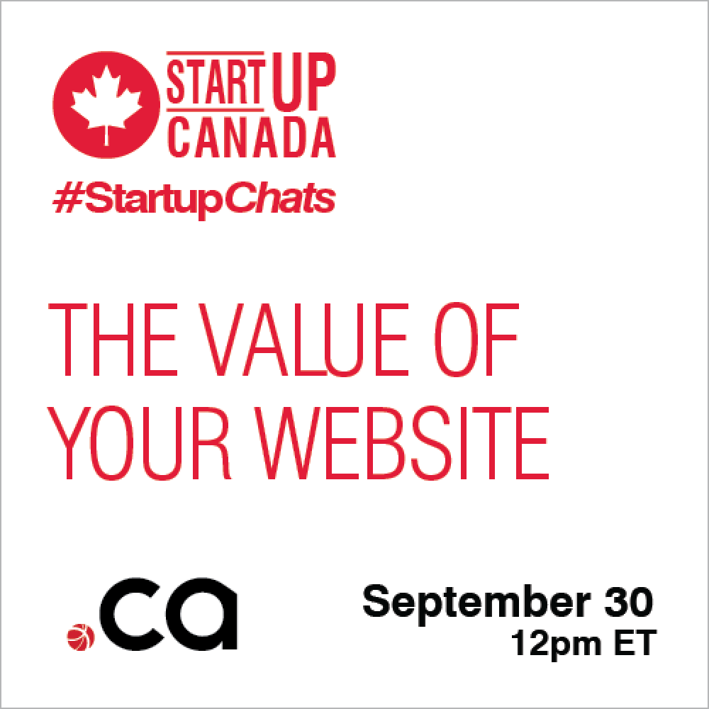 STARTUP CANADA – WEEKLY SHARING:  Join us for #StartupChats every Wednesday and Friday at 12 pm ET