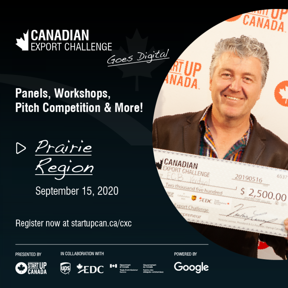 STARTUP CANADA – weekly sharing: 2020 Canadian Export Challenge – Register for 1 of our 4 remaining regional events