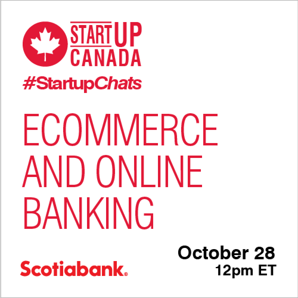 INFO STARTUP CANADA HEBDO: Join us for #StartupChats every Wednesday and Friday at 12 pm ET.