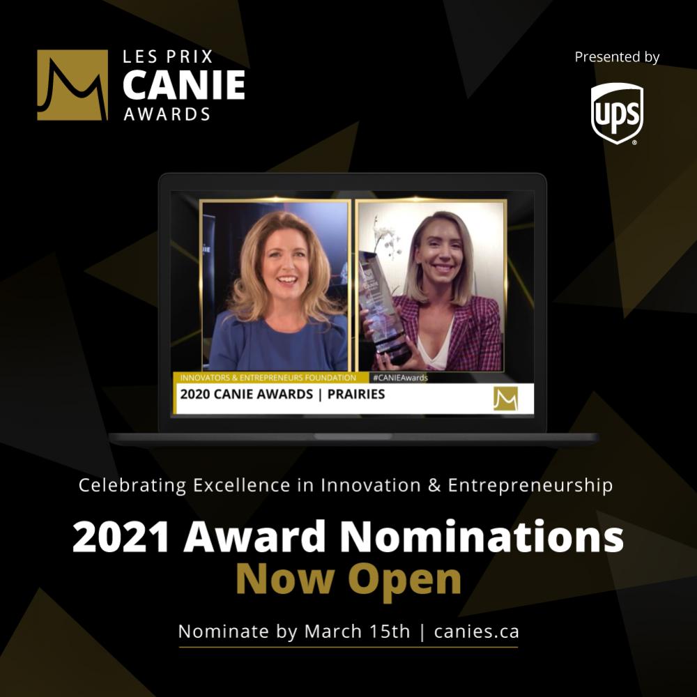 INFO STARTUP CANADA HEBDO: 2021 CANIE Award Nomination Now Open!