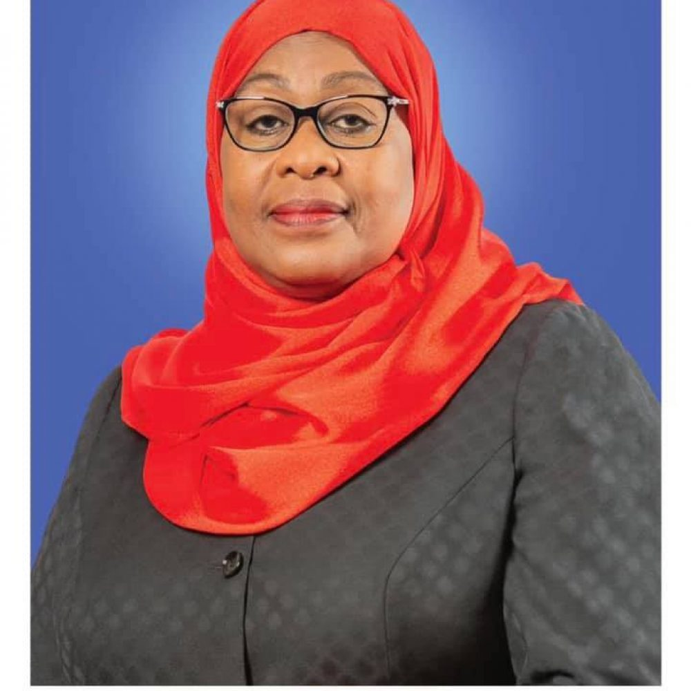 """Tanzania Government – """"The official photo of the President of the United Republic of Tanzania, Hon. Samia Suluhu Hassan""""- March 23, 2021"""