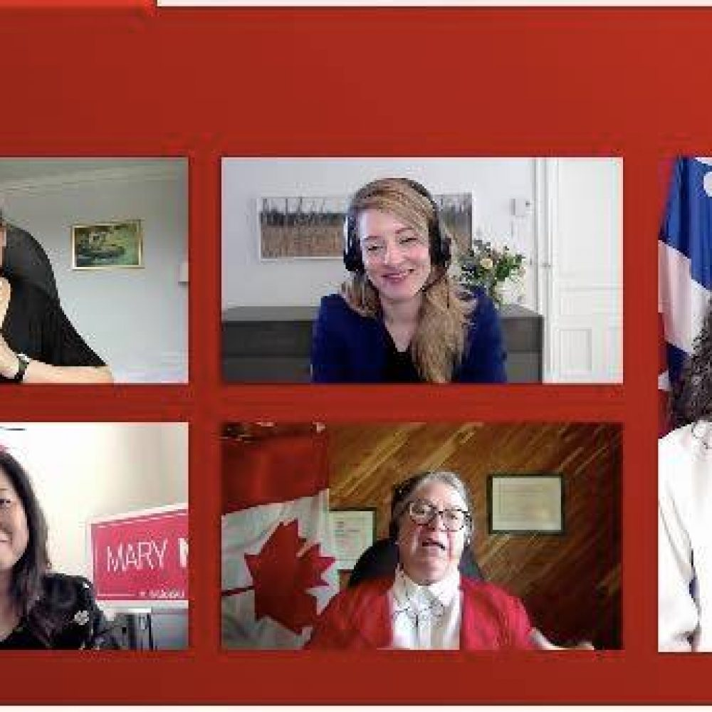"""CANADA– INTERNATIONAL  TRADE   (SBEPIT): MINISTER MARY NG / ONE OF SHARINGS :    """"      I joined Chrystia Freeland, Mélanie Joly, Dianne Lebouthillier & Rachel Bendayan to discuss how we are supporting women"""""""