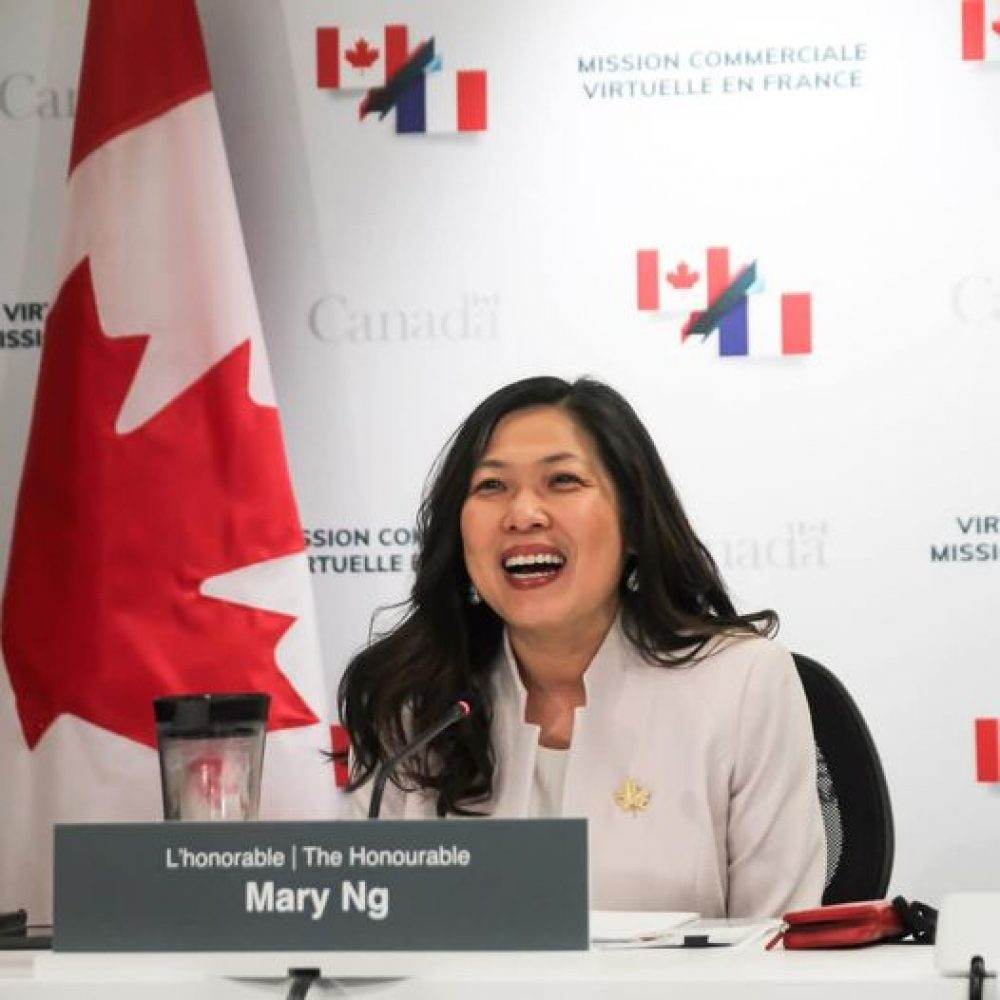 """CANADA – INTERNATIONAL TRADE : MINISTER MARY NG/ ONE OF LAST SHARINGS : """"Amb. Isabelle Hudon & I kicked off our #VirtualTradeMission to France .."""""""