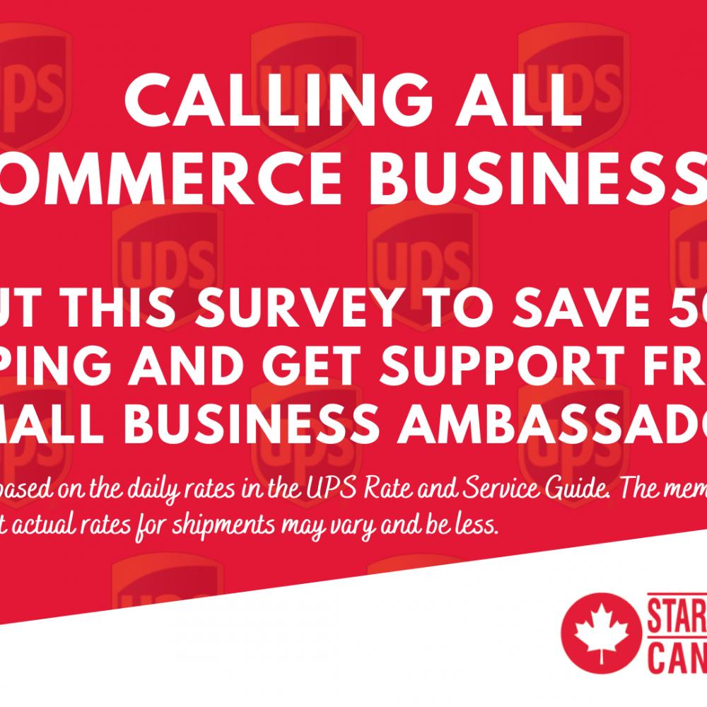 INFO STARTUP CANADA HEBDO:   Calling all e-commerce businesses! 📢