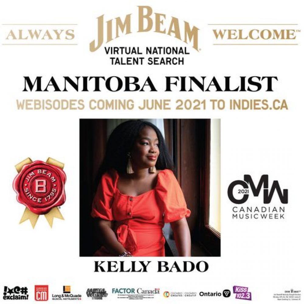 """Vote for Kelly Bado – Vote and get a chance to win a gift card ! from @chescobox @justthegood and @generationgreen / """"the Jim Beam® Virtual National Talent Search."""" – From June 23 to July 10."""