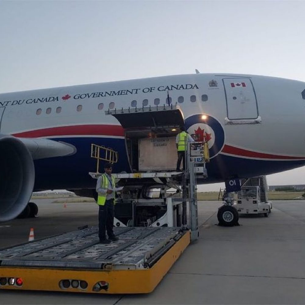 """CANADA–INTERNATIONAL TRADE (SBEPIT): MINISTER MARY NG / ONE OF SHARINGS : """"Wheels Down: Our @CanadianForces have arrived in Nepal and Pakistan with lifesaving supplies to help them fight #COVID19"""""""