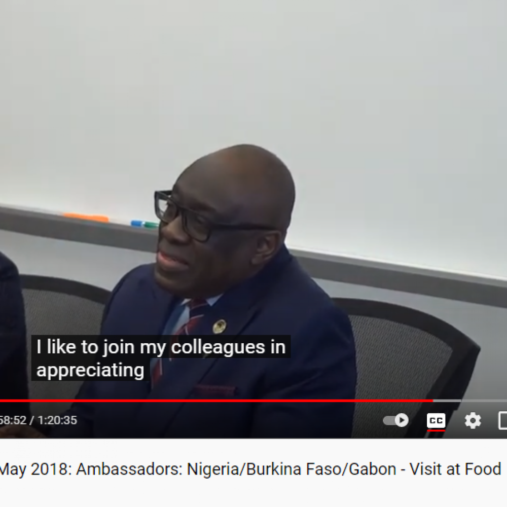 Canada-Forum ECCA-MB, May 2018 (REBROADCAST): Ambassadors: Nigeria, Burkina Faso and Gabon- Meeting at Food Development Centre, organized by Joama Consulting with the support of CDEM (Manitoba) & WED (Federal)