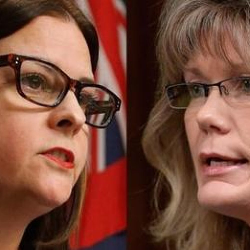 """CBC-NEWS / """"Nearly 24,000 Manitoba PC members eligible to choose new party leader, premier"""" (Shelly Glover, right, or Heather Stefanson, left)"""